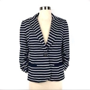 Peter Nygard Striped Buttoned Blazer Size 8